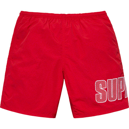 Logo Appliqué Water Short (Red)