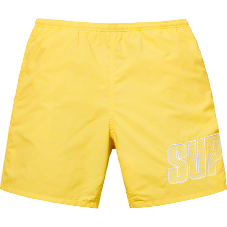 Logo Appliqué Water Short (Pale Yellow)