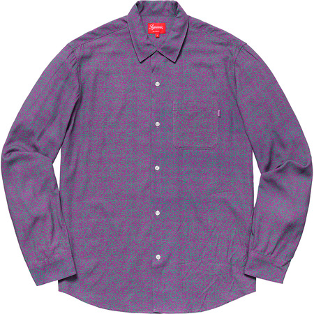 Vines Rayon Shirt (Dusty Purple)