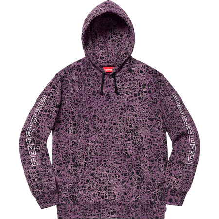 Marble Hooded Sweatshirt (Purple)