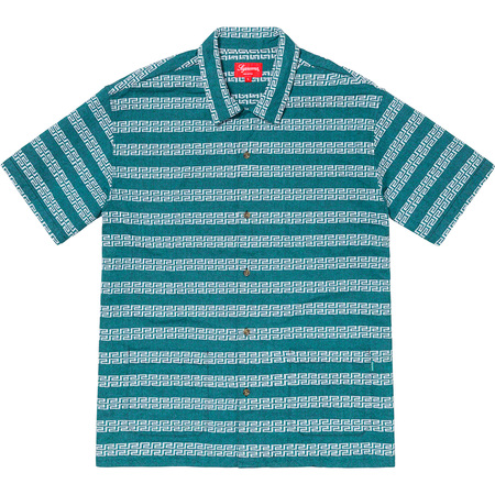 Key Stripe S/S Shirt (Light Blue)