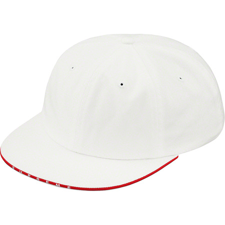 Visor Logo Twill 6-Panel (White)
