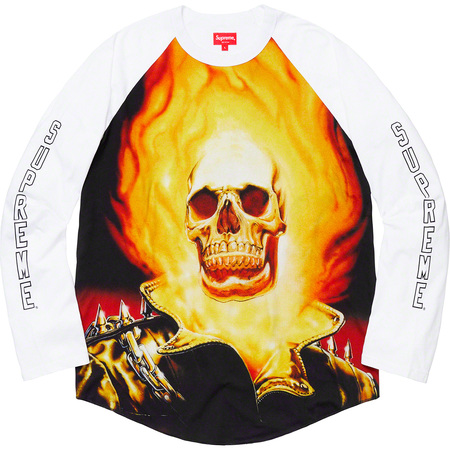 Ghost Rider© Raglan L/S Top (White)