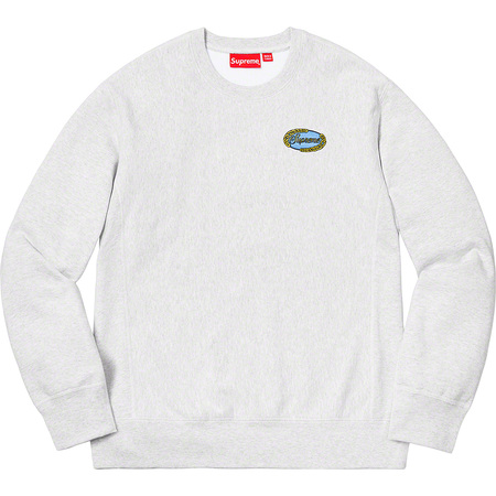 Chain Logo Crewneck (Ash Grey)