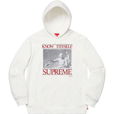 Know Thyself Hooded Sweatshirt (White)