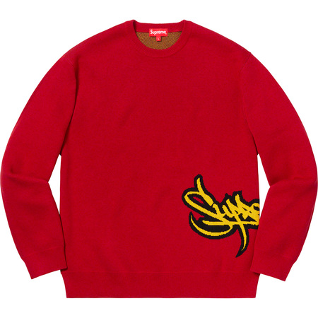 Tag Logo Sweater (Red)