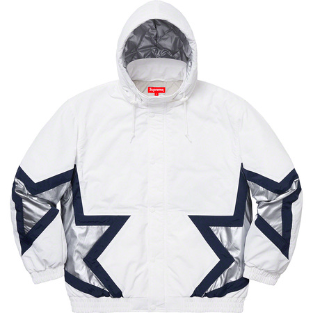 Stars Puffy Jacket (White)