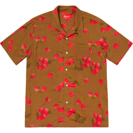 Cherry Rayon S/S Shirt (Brown)