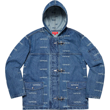 Logo Denim Turnout Jacket (Blue)