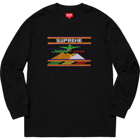 Needlepoint Patch L/S Top (Black)