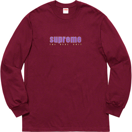 The Real Shit L/S Tee (Burgundy)