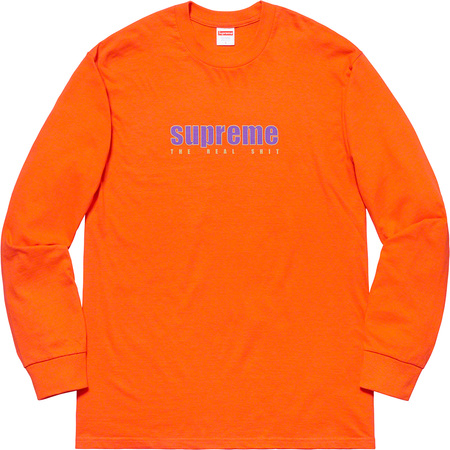 The Real Shit L/S Tee (Orange)