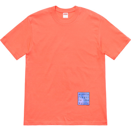 Middle Finger To The World Tee (Neon Orange)