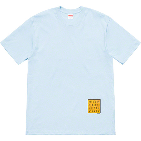 Middle Finger To The World Tee (Light Blue)