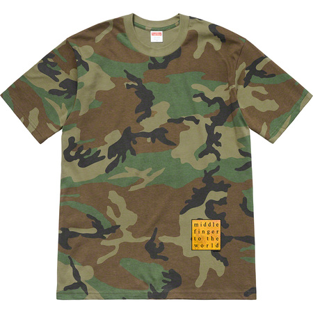 Middle Finger To The World Tee (Woodland Camo)