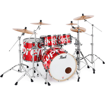 Supreme®/Pearl® Session Studio Select Drum Set & Zildjian® Cymbals (Red)