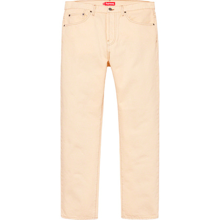 Washed Regular Jean (Washed Pale Yellow)