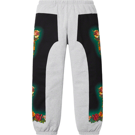 Supreme®/Jean Paul Gaultier® Floral Print Sweatpant (Heather Grey)