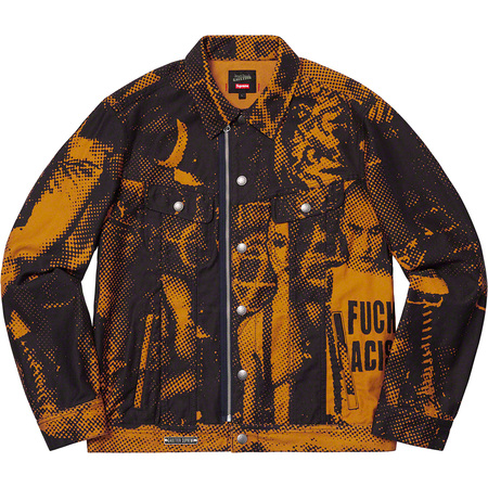 Supreme®/Jean Paul Gaultier® Fuck Racism Trucker Jacket (Gold)