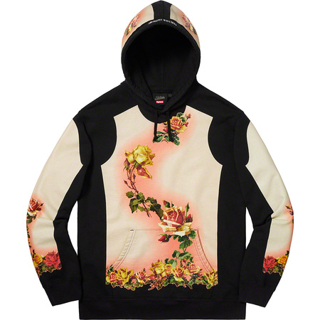 Supreme®/Jean Paul Gaultier® Floral Print Hooded Sweatshirt (Black)