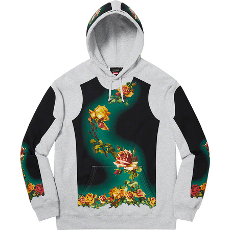 Supreme®/Jean Paul Gaultier® Floral Print Hooded Sweatshirt (Heather Grey)