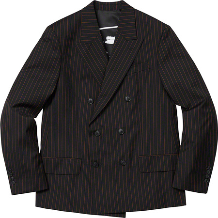 Supreme®/Jean Paul Gaultier® Pinstripe Double Breasted Blazer (Black)