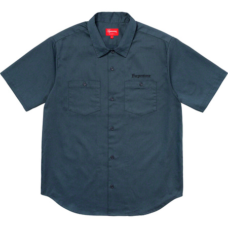 Sekintani La Norihiro/Supreme Work Shirt (Light Navy)