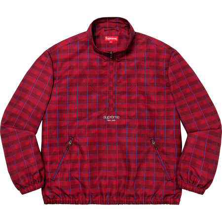 Track Half Zip Pullover (Red Glen Plaid)