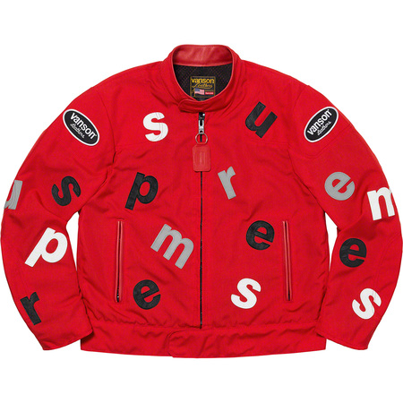 Supreme®/Vanson Leathers® Letters Cordura® Jacket (Red)