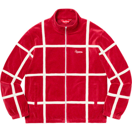 Grid Taping Velour Jacket (Red)