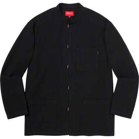 Woven Toggle Shirt (Black)