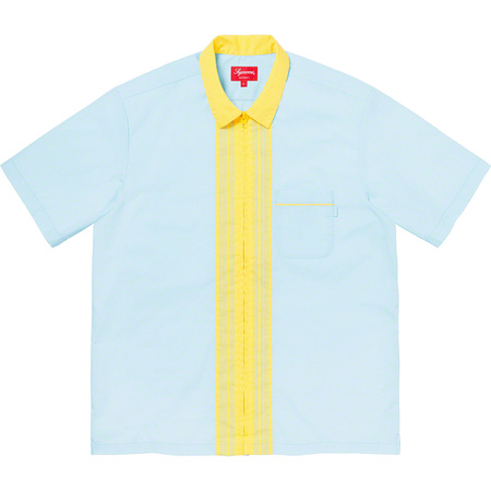 Bowling Zip S/S Shirt (Light Blue)