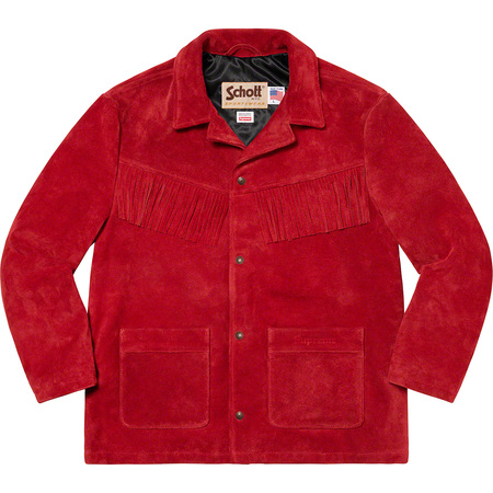 Supreme®/Schott® Fringe Suede Coat (Red)