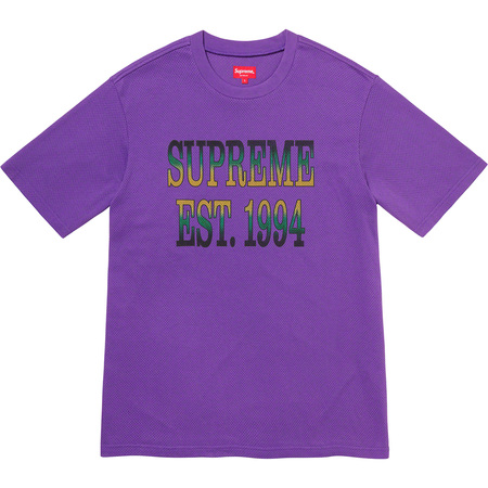Cotton Mesh Gradient Logo S/S Top (Purple)