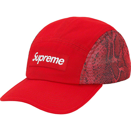 Snakeskin Mesh Camp Cap (Red)