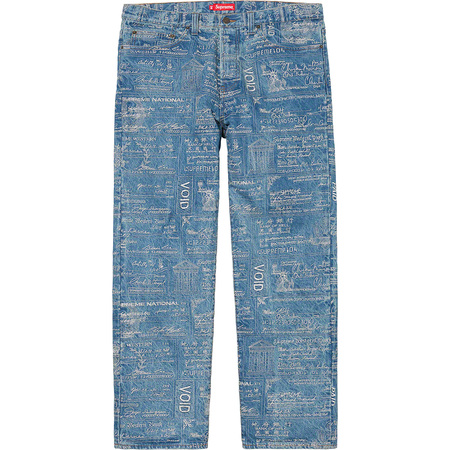 Checks Embroidered Jean (Blue)