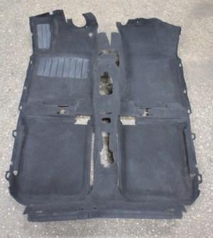 Interior Black Floor Carpet 9399 VW Jetta Golf Cabrio Mk3