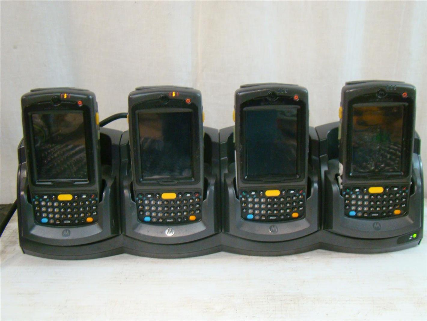 4 Motorola Wireless Handheld Computer Barcode Scanner
