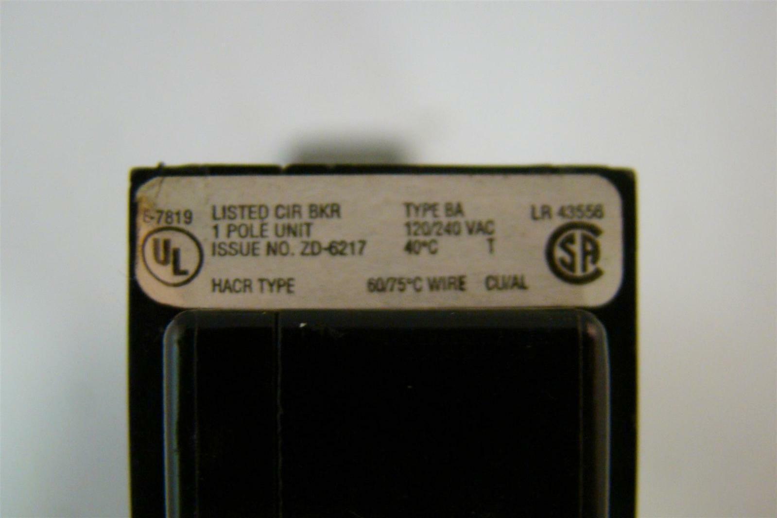Cutler Hammer Ba 120 20 Amp Breakers Eaton Bab1020 Quicklagr Circuit Breaker