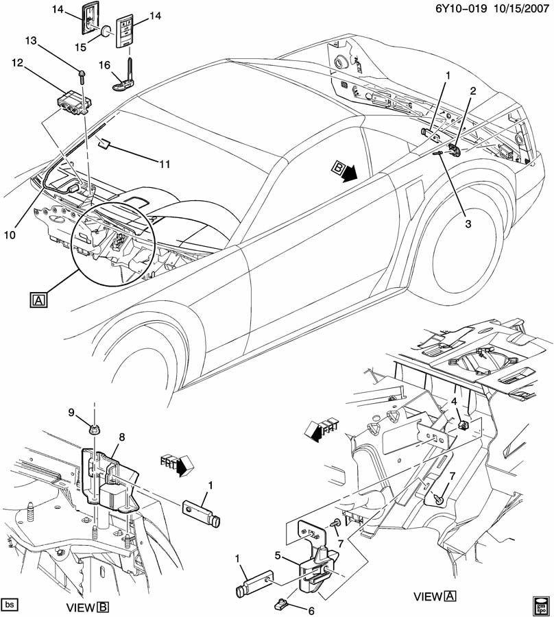 c6 corvette body parts diagram