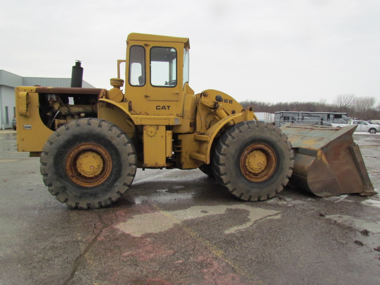 Caterpillar 966b 4 Wd Wheel Loader Payloader D333 Turbo