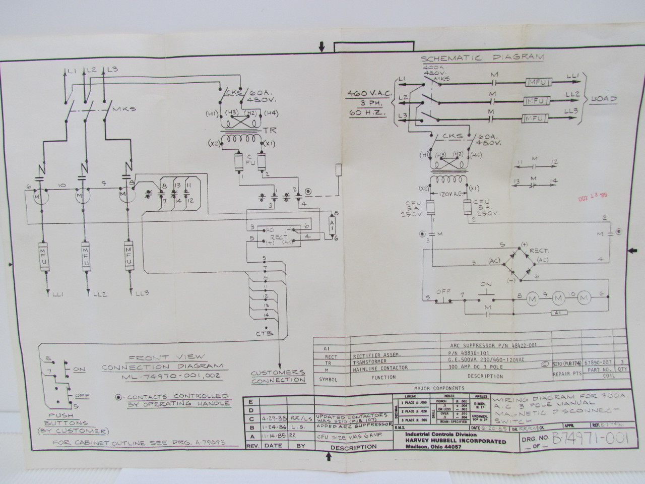 Hubbell Magnet Controller Wiring Diagrams Hubbell Industrial Controls Industrial Controls