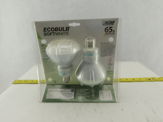 feit electric bpesl15br30 ecobulb 15w 115v compact florescent recessed lighting
