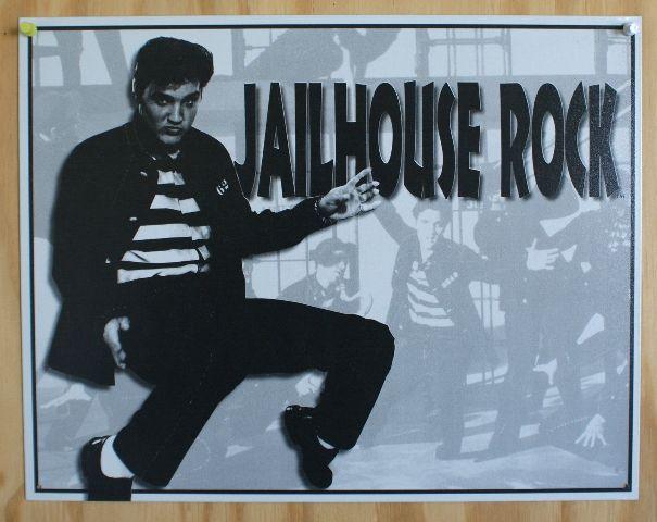 Elvis Presely Jailhouse Rock Tin Sign 50s Sun Records