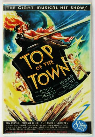 Top Of The Town FRIDGE MAGNET Movie Poster Classic Hollywood Musical