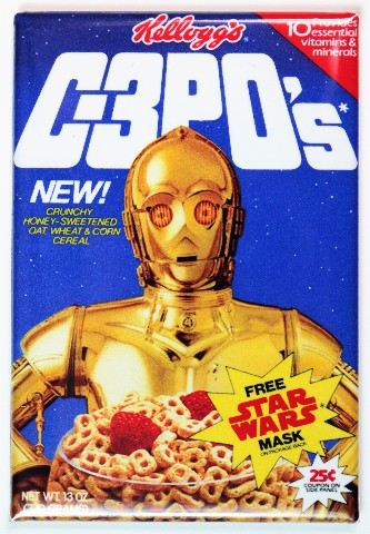 Kelloggs C 3pos Cereal Fridge Magnet C3po Star Wars
