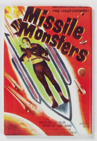 Missile Monsters Movie Poster FRIDGE MAGNET 1950s Sci Fi Outer Space