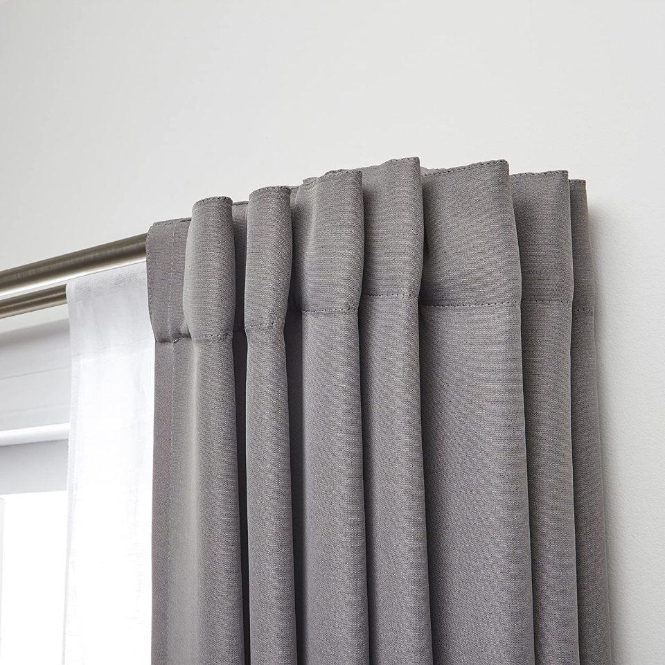 umbra twilight double curtain rod set 88 to 144 inch matte nickel