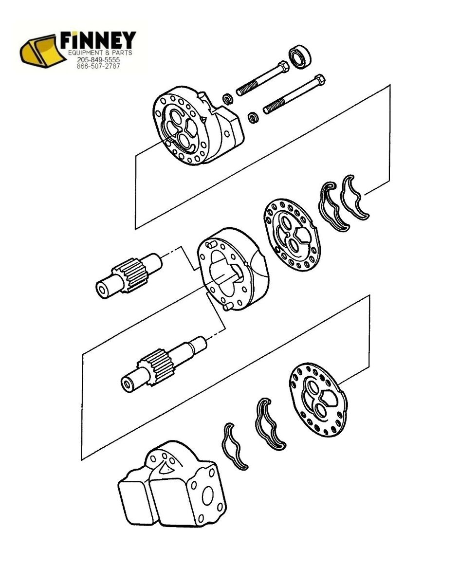 Ford backhoe hydraulic pump new 445 445a 450 540 540a 545 555 655 rh finneyparts us ford engine parts diagram 555d ford backhoe hyd schematic