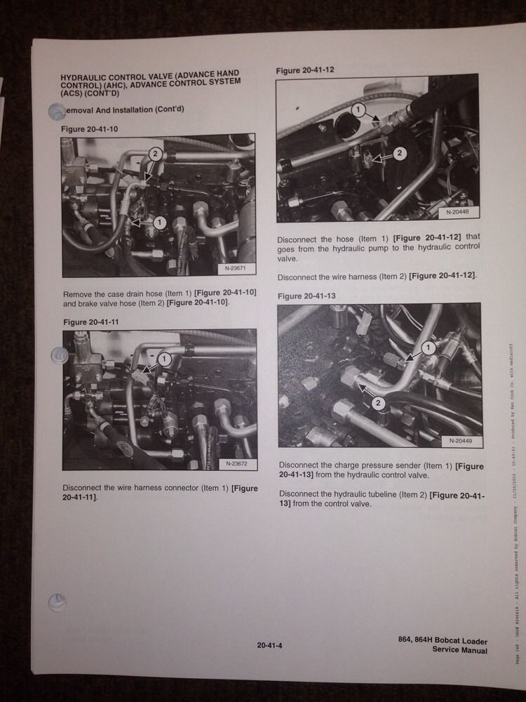 Bobcat 864 Track Skid Steer Service Manual Book